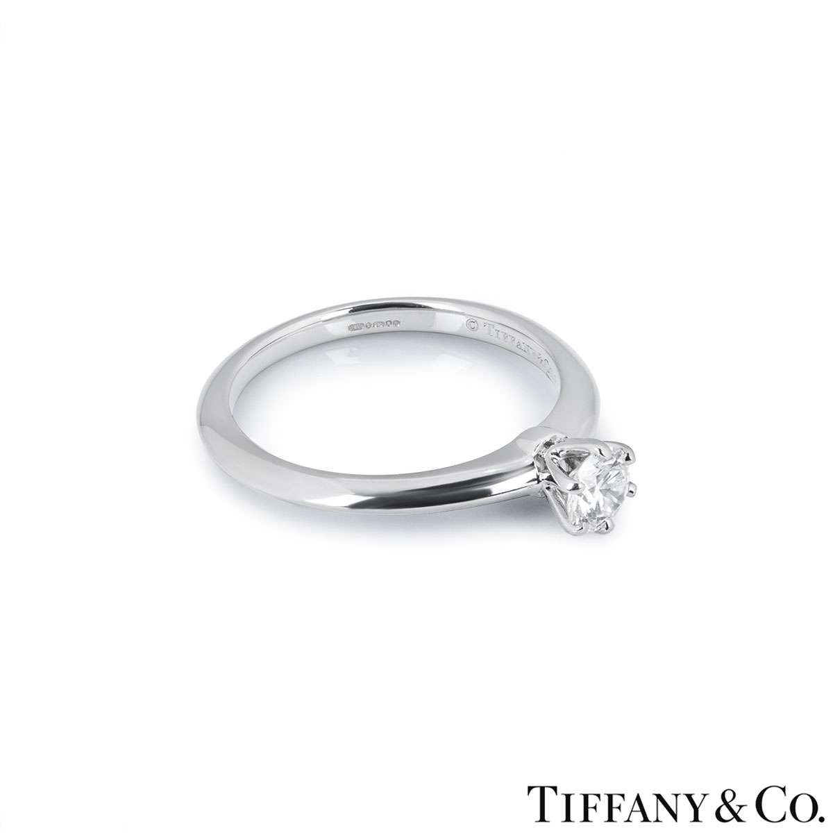 Tiffany & Co. Round Brilliant Cut Diamond Ring 0.32ct H/VVS1 XXX